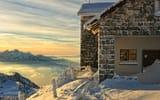 Обои: горы, дом, высота, курорт, снег