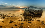 Обои: море, закат, камни, пейзаж