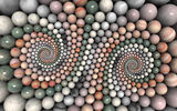 Обои: спираль, камни, круг