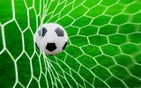 Обои: футбол, трава, сетка, гол, газон, мяч