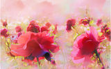 Обои: цветы, живопись, розы