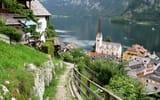 Обои для рабочего стола: дома, Австрия, Гальштатское озеро